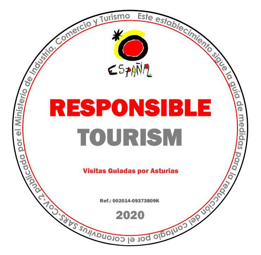 Logo de la Secretaría de Estado de Turismo para Visitas Guiadas por Asturias Responsable Covid-19